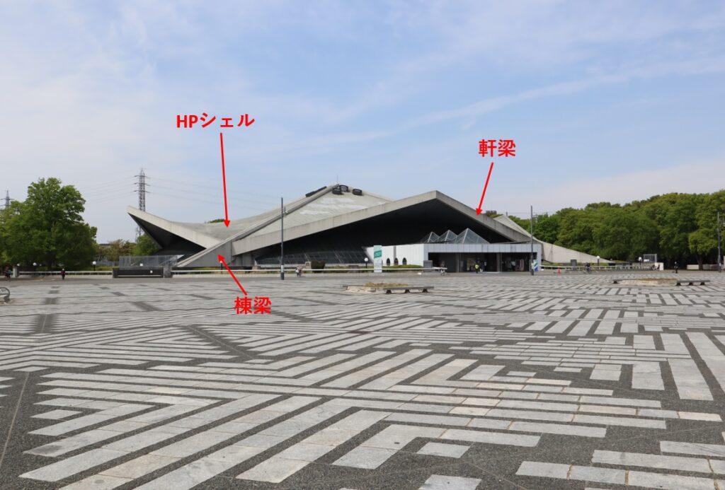 駒沢オリンピック公園体育館の屋根部位名称