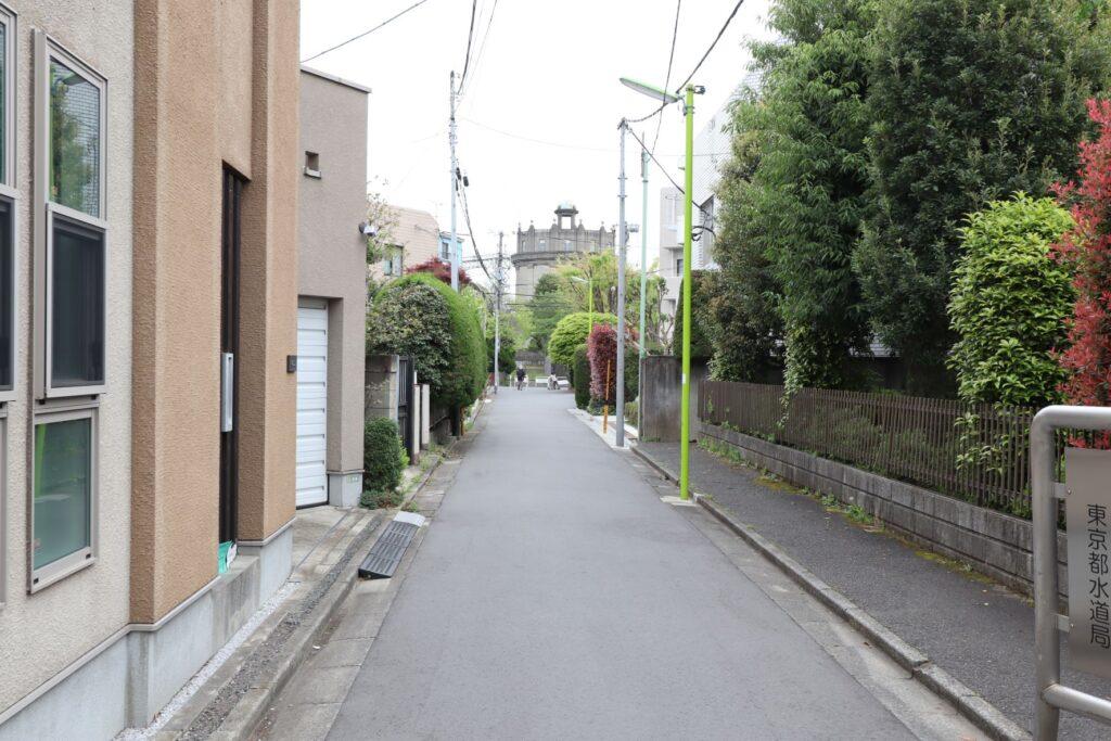 駒沢給水所への水道のみち