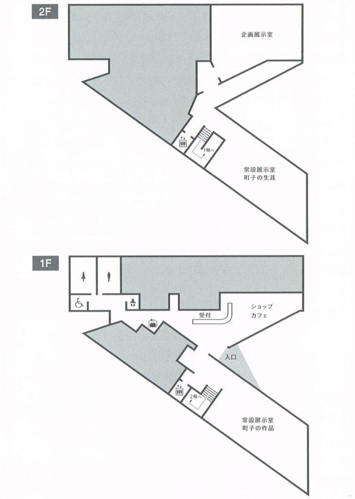 長谷川町子記念館の館内マップ