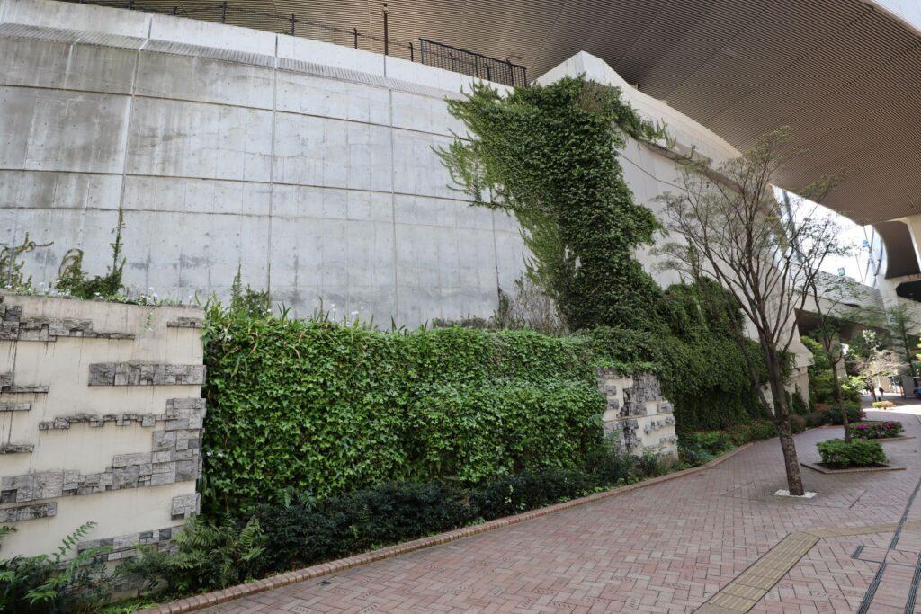 目黒天空庭園の周辺の外壁