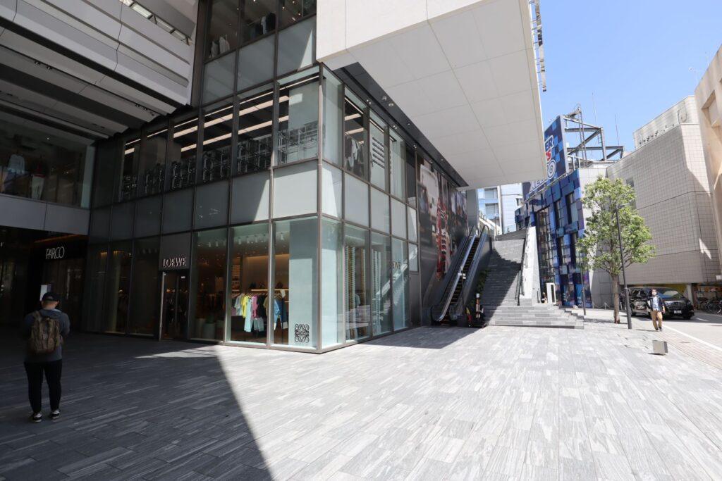 渋谷PARCO屋外広場入口