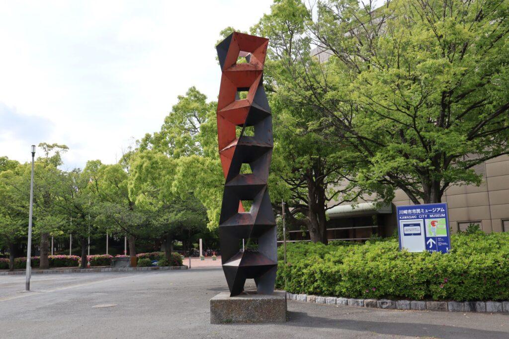 川崎市とどろきアリーナのオブジェ