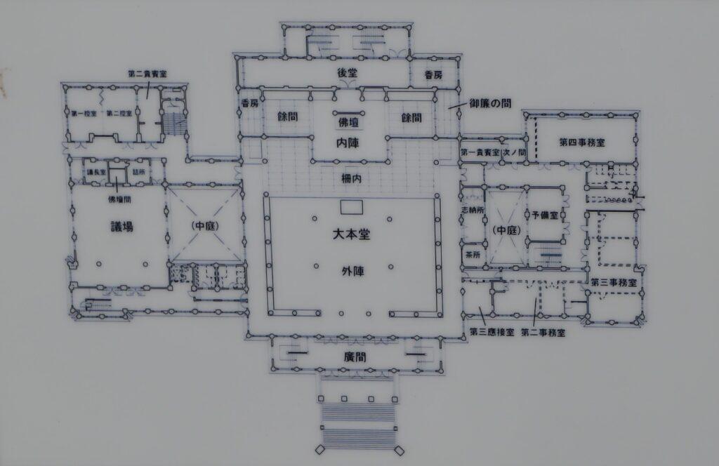 築地本願寺本堂平面図
